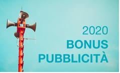 BONUS PUBBLICITA' 2020